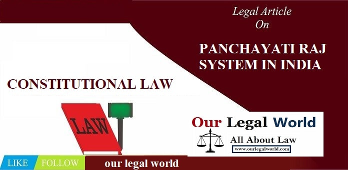 PANCHAYATI RAJ SYSTEM IN INDIA
