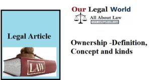 Ownership -Definition, Concept and kinds- legal article