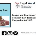 Powers and Function of NCLT under Companies Act