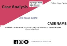 Case Study SUPREME COURT ADVOCATE-ON-RECORD ASSOCIATION vs. UNION OF INDIA (Second Judges Case)