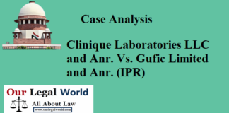 Clinique Laboratories LLC and Anr. Vs. Gufic Limited and Anr. (IPR)- Case Analysis