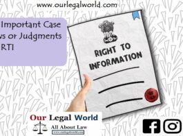 30 Important Case Laws OR Judgment RTI