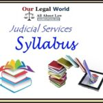 Judicial Services Syllabus of various States