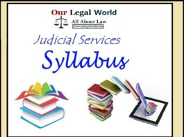 Judicial Services Syllabus of various States
