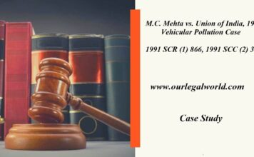 M.C. Mehta vs. Union of India, 1991-Vehicular Pollution Case study