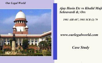 Ajay Hasia Etc vs Khalid Mujib Sehravardi &; Ors: Case Analysis Article 12