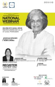"""The Lawster's 3rd National Webinar on the topic - """"Delving into the Legal Space"""