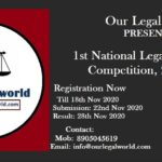 National Legal Drafting Competition by Our Legal World, Register Now