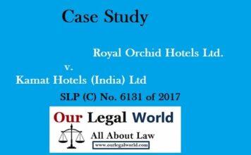 Royal Orchid Hotels Ltd. v. Kamat Hotels trademark class 16 42 case study