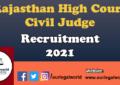 Civil Judge Vacancy Rajasthan Judicial Services Exam 2021 [120 Vacancies]: Apply by Aug 31 judiciary notes